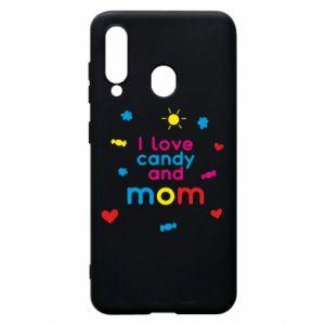 Etui na Samsung A60 I love candy and mom