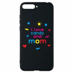 Etui na Huawei Y6 2018 I love candy and mom