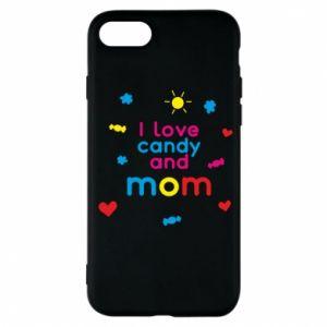 Etui na iPhone 7 I love candy and mom