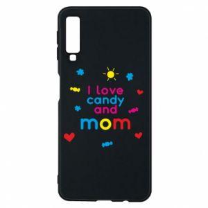 Etui na Samsung A7 2018 I love candy and mom