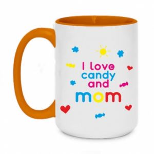 Kubek dwukolorowy 450ml I love candy and mom