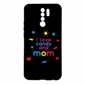 Etui na Xiaomi Redmi 9 I love candy and mom