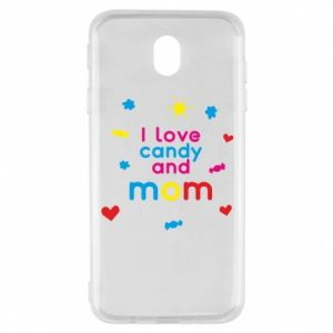 Etui na Samsung J7 2017 I love candy and mom