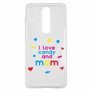Etui na Nokia 5.1 Plus I love candy and mom