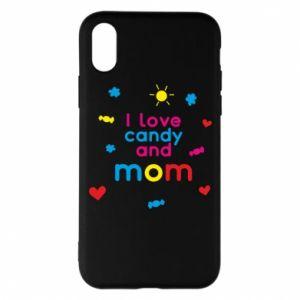 Etui na iPhone X/Xs I love candy and mom