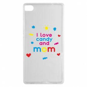 Etui na Huawei P8 I love candy and mom