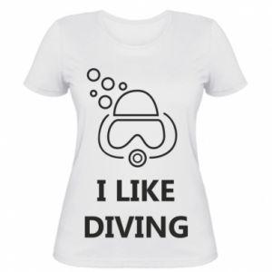 Damska koszulka I like diving