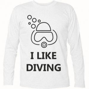 Koszulka z długim rękawem I like diving