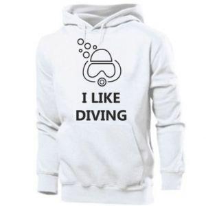 Męska bluza z kapturem I like diving