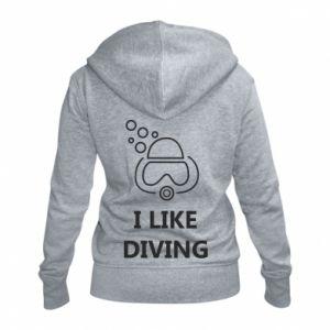 Damska bluza na zamek I like diving