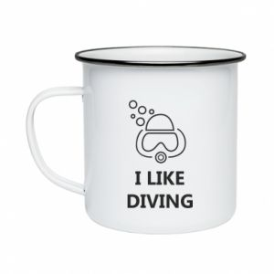 Kubek emaliowane I like diving