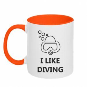 Kubek dwukolorowy I like diving