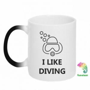 Kubek-kameleon I like diving