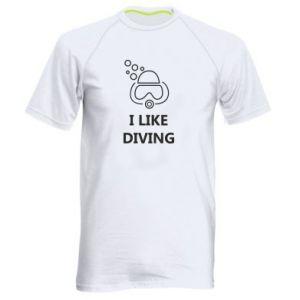 Męska koszulka sportowa I like diving