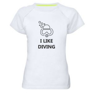 Damska koszulka sportowa I like diving