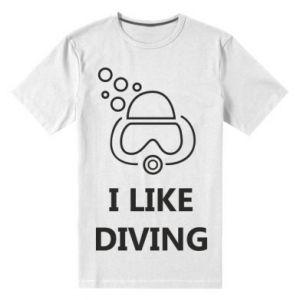 Męska premium koszulka I like diving