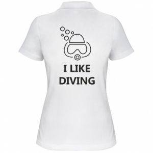 Damska koszulka polo I like diving
