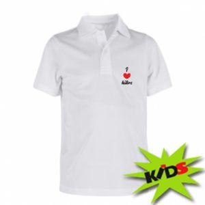 Dziecięca koszulka polo I love haters