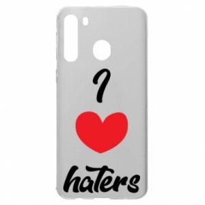 Etui na Samsung A21 I love haters