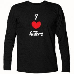 Koszulka z długim rękawem I love haters