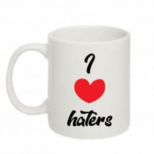 Kubek 330ml I love haters
