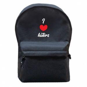 Plecak z przednią kieszenią I love haters