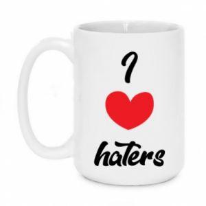 Kubek 450ml I love haters