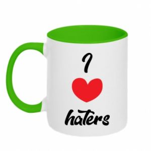 Kubek dwukolorowy I love haters
