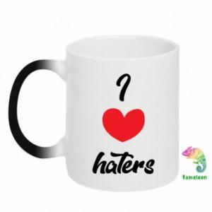 Kubek-kameleon I love haters
