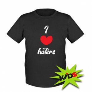 Dziecięcy T-shirt I love haters