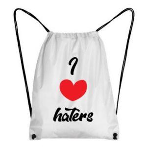 Plecak-worek I love haters