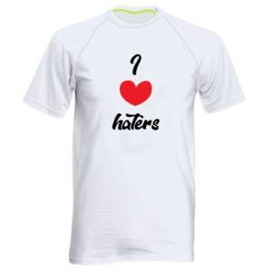 Męska koszulka sportowa I love haters