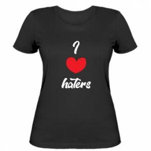 Damska koszulka I love haters