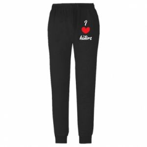 Męskie spodnie lekkie I love haters