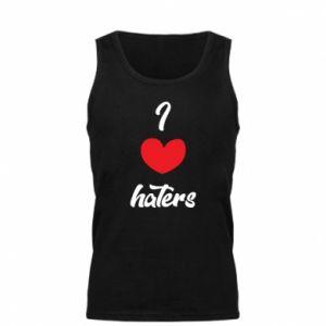 Męska koszulka I love haters