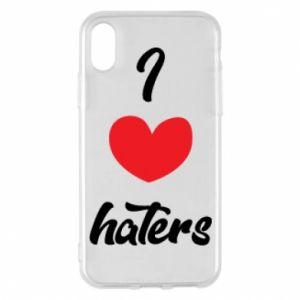 Etui na iPhone X/Xs I love haters