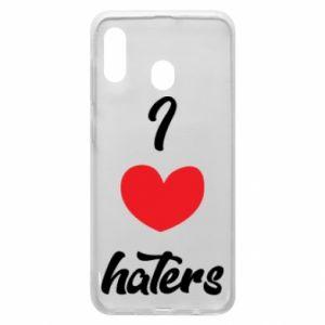 Etui na Samsung A20 I love haters