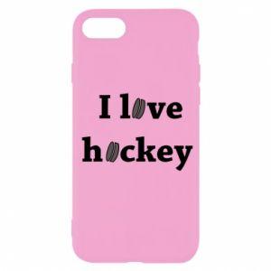 iPhone SE 2020 Case I love hockey