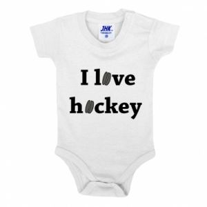 Baby bodysuit I love hockey