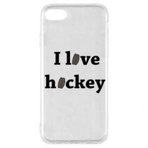 Etui na iPhone 7 I love hockey