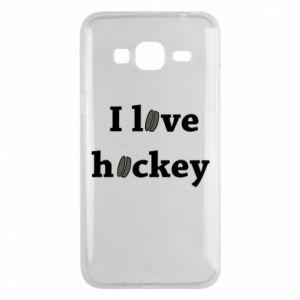 Etui na Samsung J3 2016 I love hockey