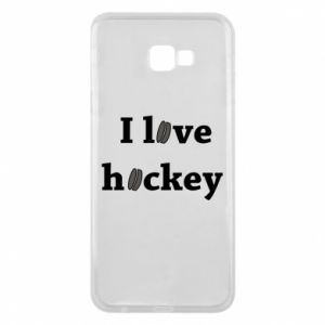 Samsung J4 Plus 2018 Case I love hockey