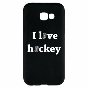 Etui na Samsung A5 2017 I love hockey