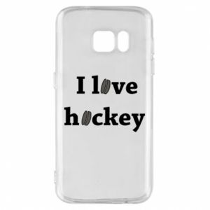 Etui na Samsung S7 I love hockey