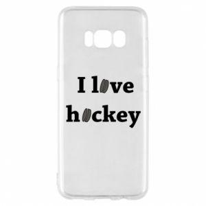 Etui na Samsung S8 I love hockey