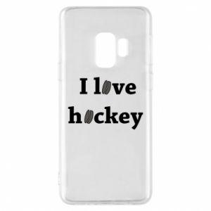 Etui na Samsung S9 I love hockey