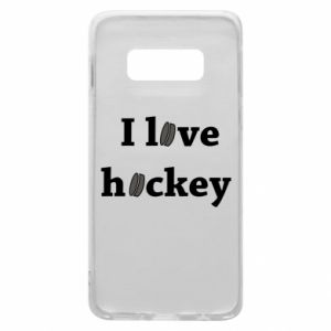 Etui na Samsung S10e I love hockey