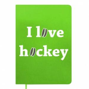 Notepad I love hockey