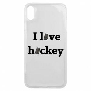 Etui na iPhone Xs Max I love hockey
