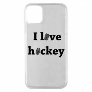 Etui na iPhone 11 Pro I love hockey